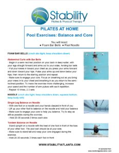 Pool Exercises: Balance and Core